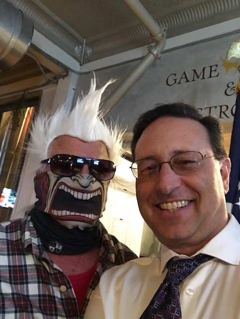 Attorneys Michael Dujovne and Beth Clause Attended Deck the Hell N Blazes Christmas Party